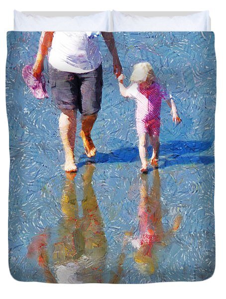 Walking On Water Duvet Cover by Steve Taylor