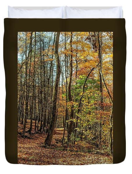 Duvet Cover featuring the photograph Walking The Mountain Trail by Debbie Green