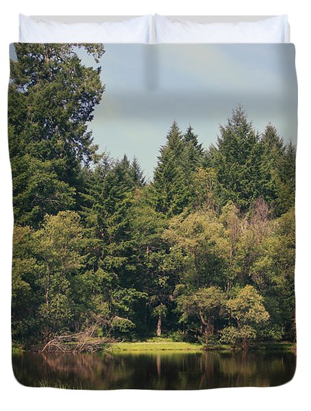 Walking Through The Grass Duvet Cover by Laurie Search
