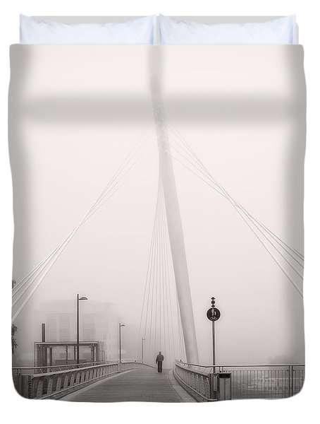 Walking Through The Mist Duvet Cover