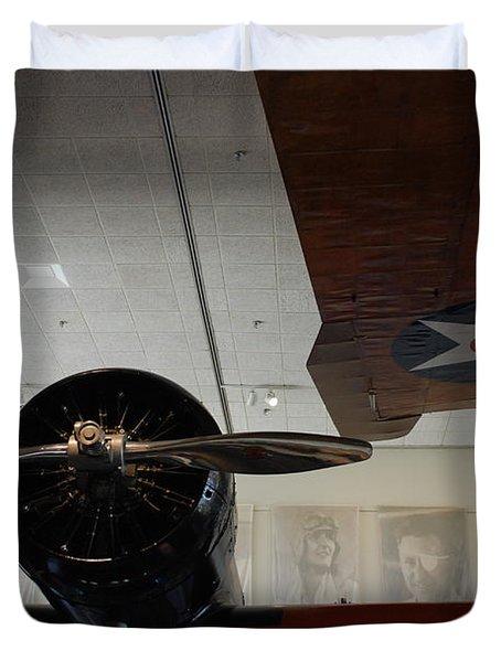 Wall Of Great Aviators Duvet Cover
