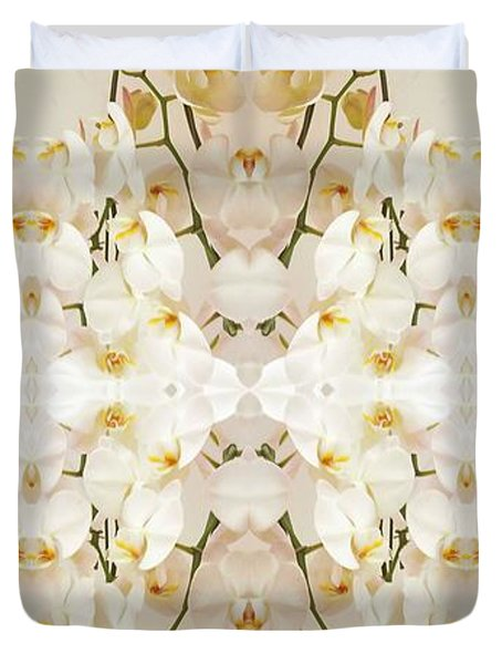 Wall Of Orchids II Panorama Duvet Cover