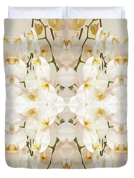 Wall Of Orchids II Duvet Cover