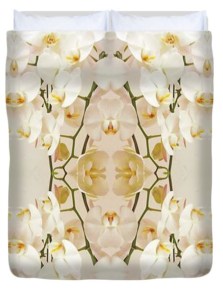 Wall Of Orchids Panorama Duvet Cover