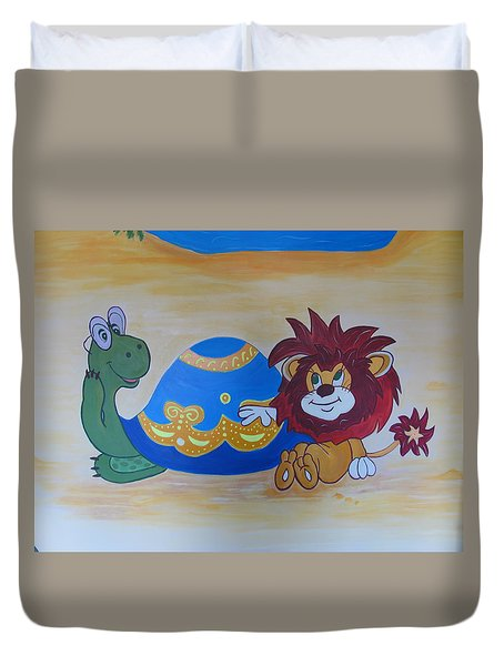 Wall Painting Duvet Cover