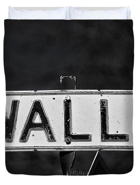 Wall Street Duvet Cover by Karol Livote