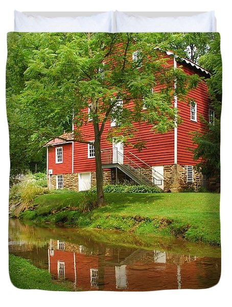 Wallace Cross Grist Mill Reflections Duvet Cover