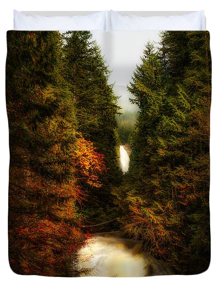 Wallace Fall North Fork Duvet Cover by James Heckt