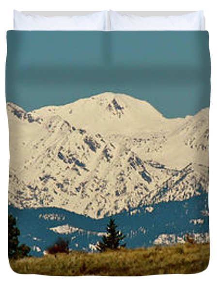 Wallowa Mountains Oregon Duvet Cover