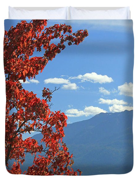 Dn5930-wallowa Valley In Fall Duvet Cover