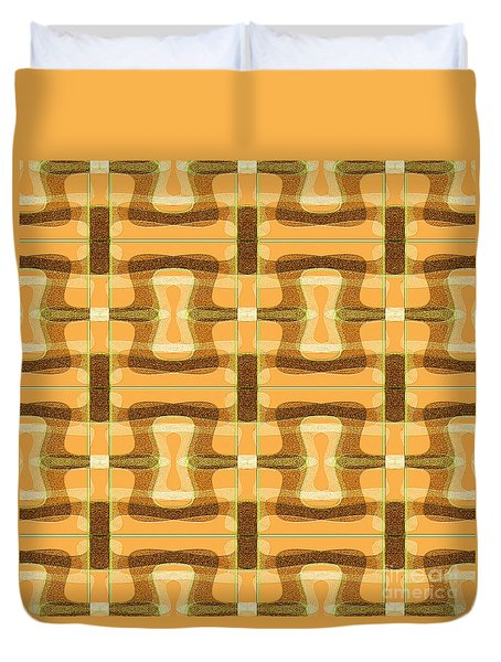 Wallpaper-mandoxocco-orange Duvet Cover