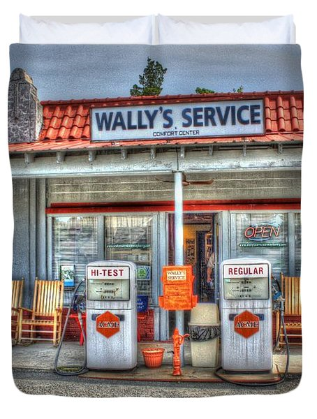 Wally's Service Station Duvet Cover