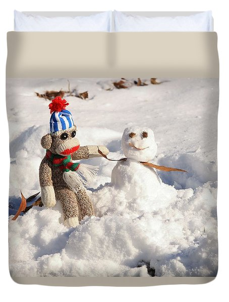 Wally's Winter Friend Duvet Cover