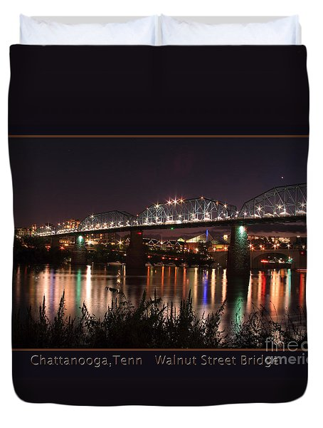 Duvet Cover featuring the photograph Walnut At Night by Geraldine DeBoer