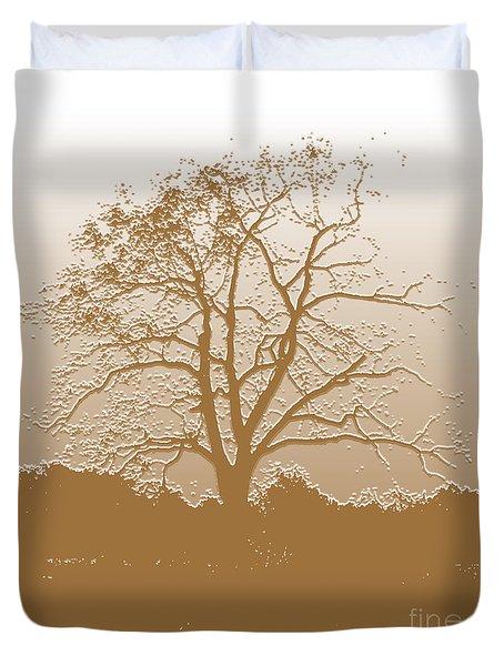 Walnut Tree Series Plaster Golden Duvet Cover
