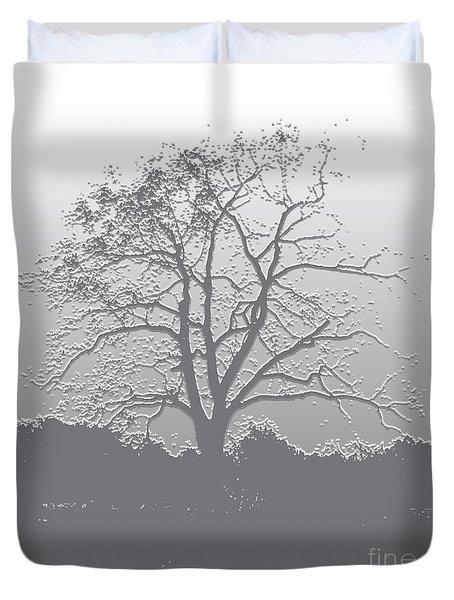 Walnut Tree Series Plaster Silver Duvet Cover