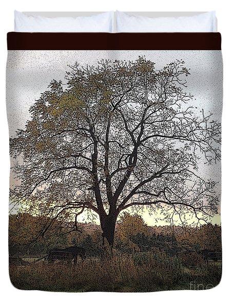 Walnut Tree Series Poster Edges Duvet Cover