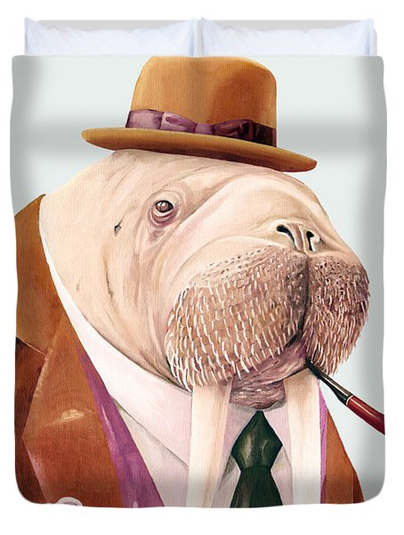 Walrus Duvet Cover by Animal Crew