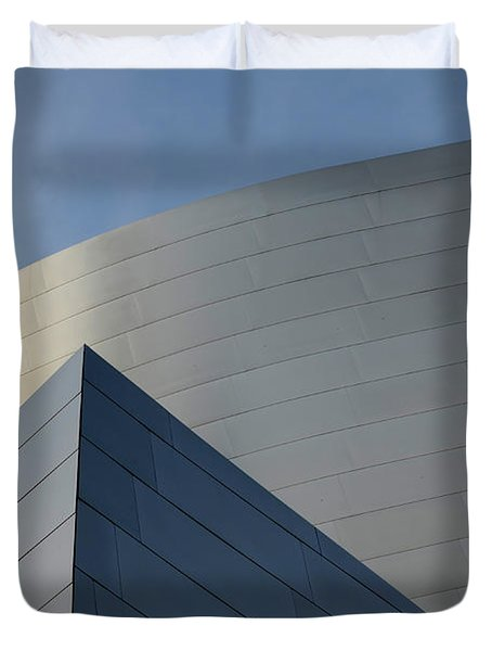 Walt Disney Concert Hall 3 Duvet Cover by Bob Christopher