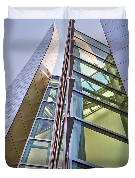 Walt Disney Concert Hall Vertical Exterior Building Frank Gehry Architect 6 Duvet Cover by David Zanzinger