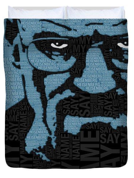 Walter White Heisenberg Breaking Bad Duvet Cover by Tony Rubino