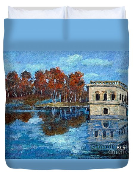 Duvet Cover featuring the painting Waltham Reservoir by Rita Brown