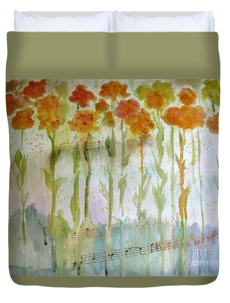 Waltz Of The Flowers Duvet Cover