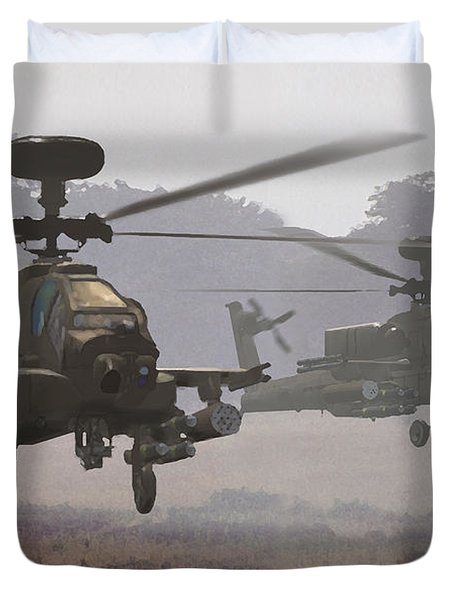 Waltz Of The Hunters Duvet Cover by Dieter Carlton