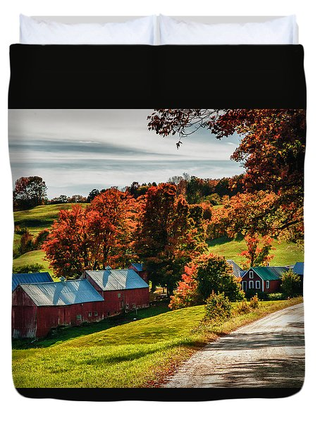 Wandering Down The Road Duvet Cover