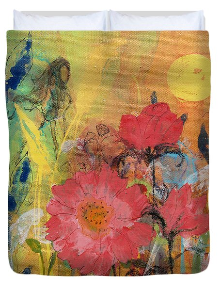 Duvet Cover featuring the painting Wandering Princess by Robin Maria Pedrero