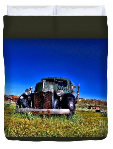 Wanna Ride - Bodie Ghost Town By Diana Sainz Duvet Cover