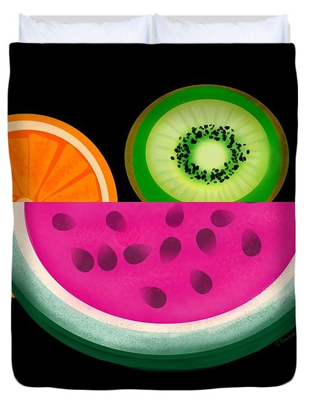 Want A Slice? Duvet Cover by Christine Fournier