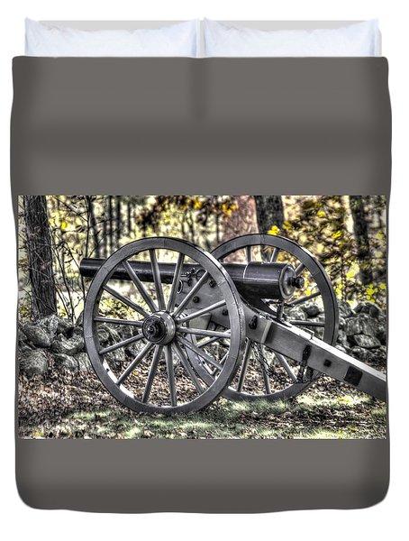 Duvet Cover featuring the photograph War Thunder - The Albemarle Va Artillery Wyatt's Battery-b1 West Confederate Ave Gettysburg by Michael Mazaika