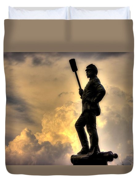 War Thunder - The Clouds Of War - 4th New York Independent Battery Near Devils Den Gettysburg Duvet Cover