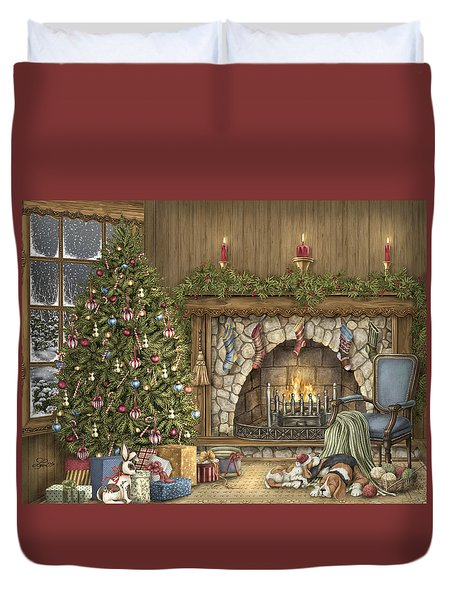 Warm Christmas Duvet Cover by Beverly Levi-Parker