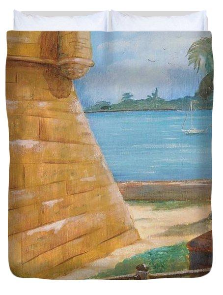 Warm Days In St. Augustine Duvet Cover