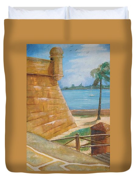 Warm Days In St. Augustine Duvet Cover