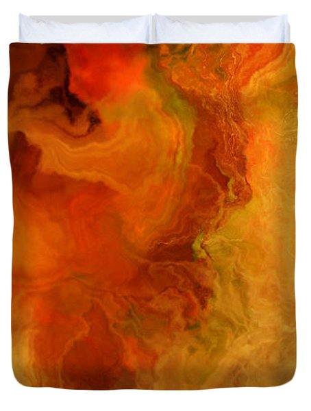 Warm Embrace - Abstract Art Duvet Cover by Jaison Cianelli