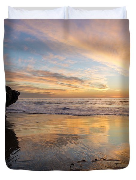 Warm Glow Of Memory Duvet Cover