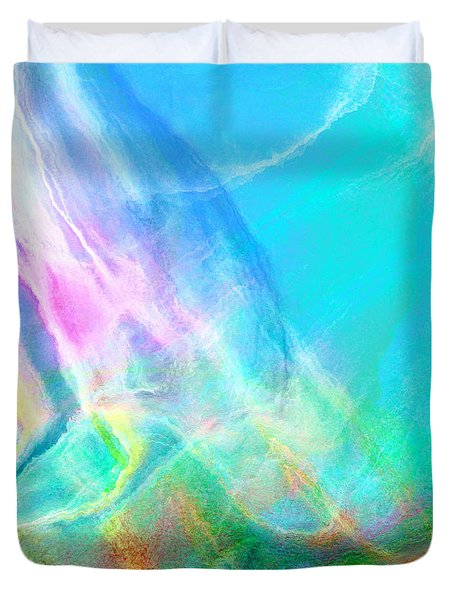 Warm Seas- Abstract Art Duvet Cover