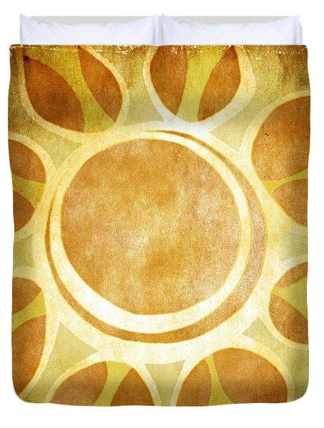 Warm Sunny Flower Duvet Cover