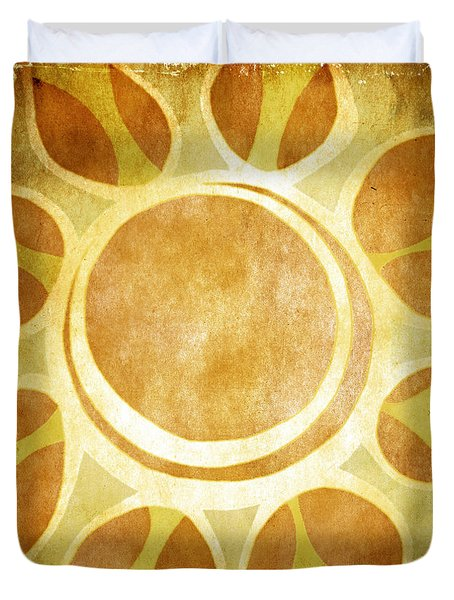Warm Sunny Flower Duvet Cover by Lenny Carter