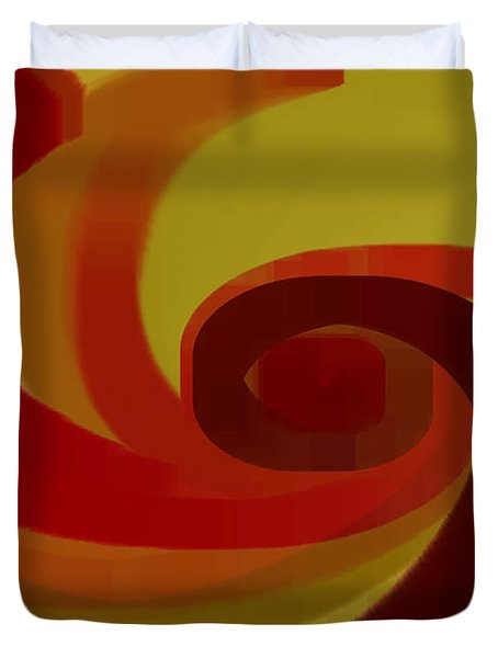 Warm Swirl Duvet Cover by Ben and Raisa Gertsberg
