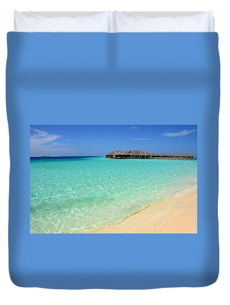 Warm Welcoming. Maldives Duvet Cover by Jenny Rainbow