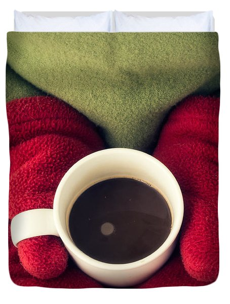 Warming Up With Hot Cocoa Duvet Cover