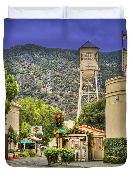 Warner Bros.  Burbank Ca  Duvet Cover by David Zanzinger