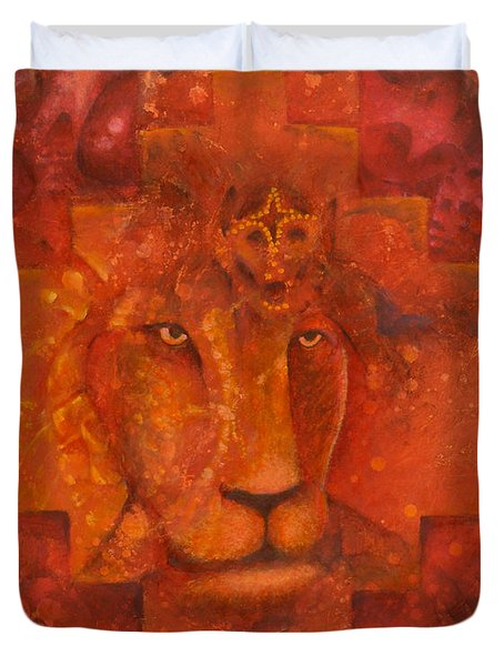 Warrior King Duvet Cover
