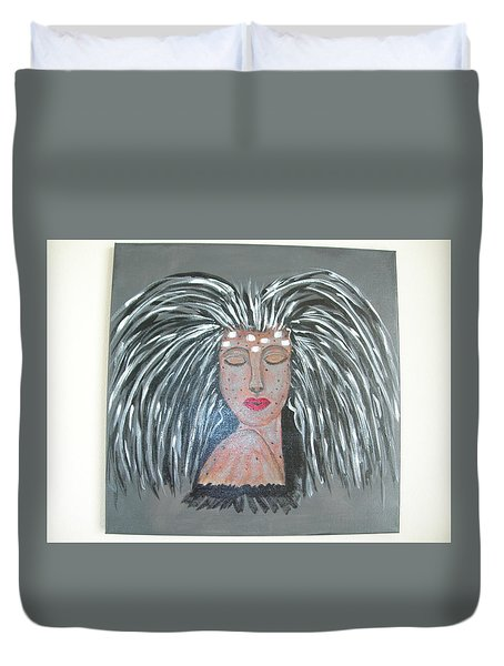 Warrior Woman #2 Duvet Cover by Sharyn Winters