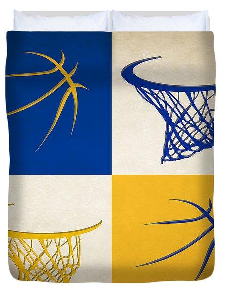 Warriors Ball And Hoop Duvet Cover