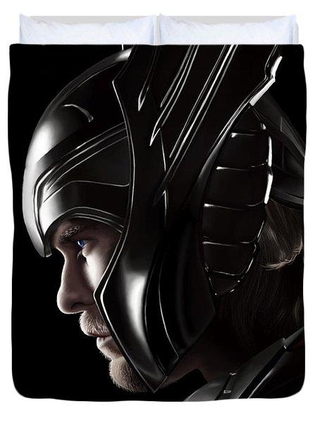 Warrior's Stare Duvet Cover by Kayleigh Semeniuk